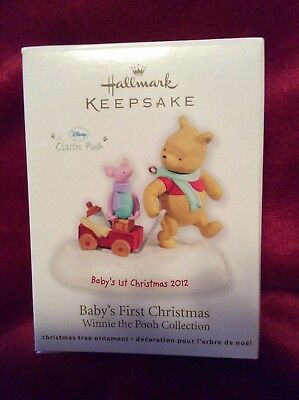 Hallmark 2012 BABYS FIRST CHRISTMAS Ornament WINNIE THE POOH