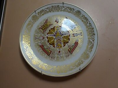 SPODE collector plate.THE DURHAM PLATE.