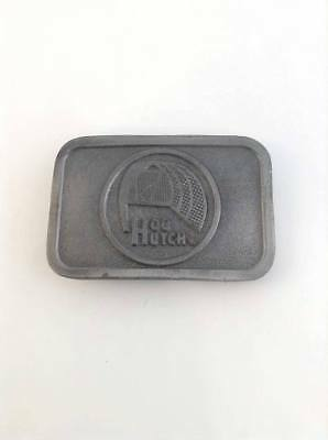 Vintage HOG HUTCH Hitline USA Pewter Advertisement Belt Buckle
