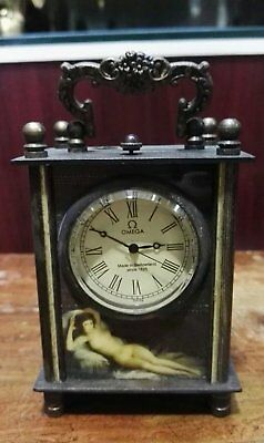 Exquisite Old brass make Mechanical Clock have Angell and belle picture