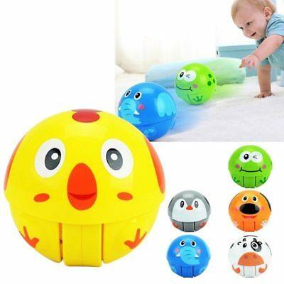 Funny Baby Kids Toys Animals Tumbler Ring Bell Scroll Ball Nodding Doll Toy AU