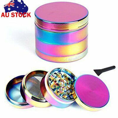Metal Zinc Alloy Tobacco Herb Grinder 4-Layer Hand Muller Smoke Crusher Colorful