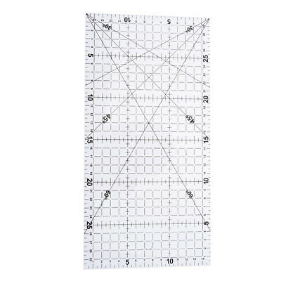 1Pc patchwork ruler quilting tools acrylic material transparent ruler scale ^F