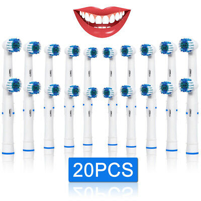 20 Brush Heads Fits For Oral B Flexisoft Replacement Toothbrush Heads UK Seller