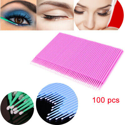 4 Colors Micro Brushes Disposable Microbrush Applicators Eyelash Extension Swab