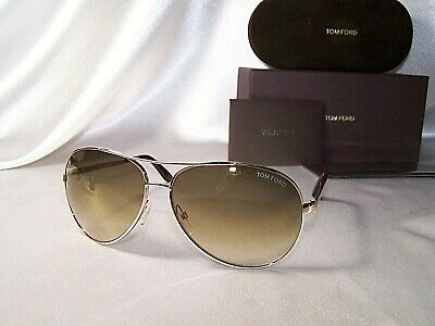 46a6e0c4dd9 Tom Ford Charles TF35 FT 0035 28G Rose Gold Mirror Brown Lens 62mm Authentic