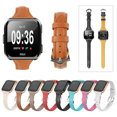 For Fitbit Versa Replacement Genuine Leather Wristband Watch Band Strap Bracelet