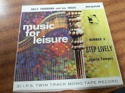 Billy Thorburn (Music For Leisure) 3 3/4 i.p.s Twin Track Mono Tape