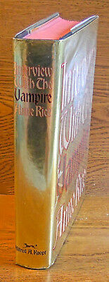 Anne Rice. INTERVIEW WITH THE VAMPIRE. Knopf, 1976. 1st HC/DJ. Rice's 1st Book!