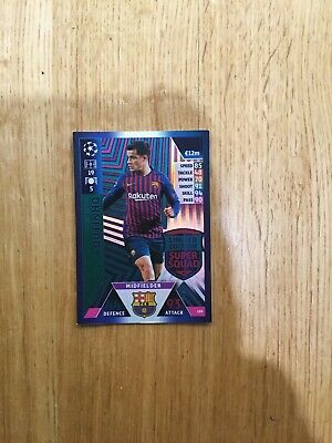 Match Attax Champions League 2018/19 Limited Edition Super Squad 'Coutinho'