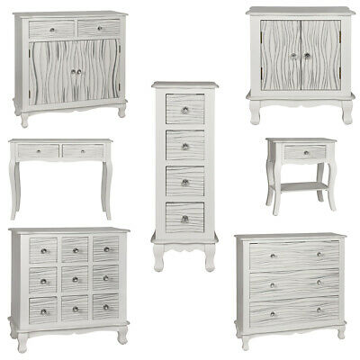 f31c31805a The Odessa range Console Table bedside chest Cabinets Satin Glass White  Finish