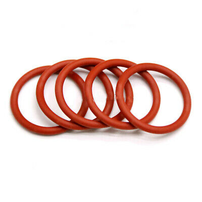 3.5mm Red Food Grade Silicone HIGH TEMP Gasket Washers O-Ring Seal OD=12~46mm