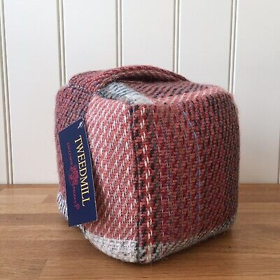 TWEEDMILL DOOR STOP SQUARE Random Recycled BRITISH MADE Country Gift