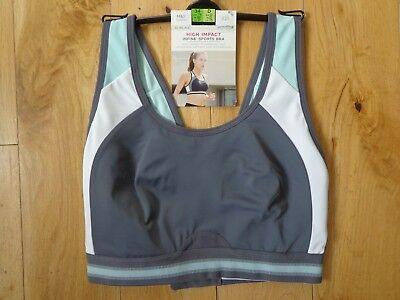 Bnwt Ladies M&S Collection Non Wired High Impact Sports Bra Size 34D R/Price £25