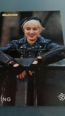 madonna  poster  2 pages , rare