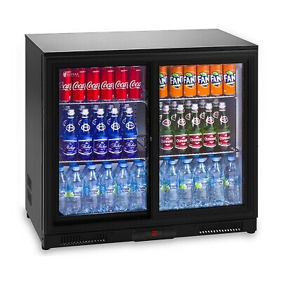 Fridge Minibar Fridge Glass Door 208L Fridge Drinks Fridge Cooler Bottle