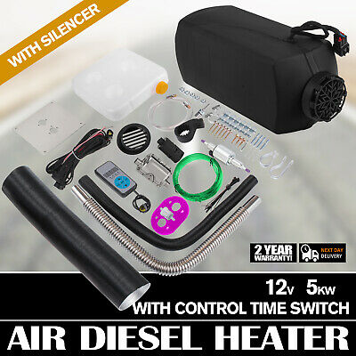 ty Air Heater 5KW 12V Heater Thermostat Caravan Silencer +Digital Switch on
