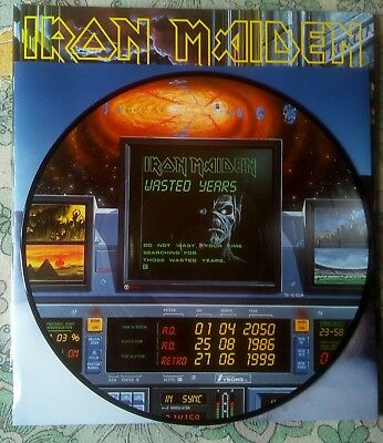 Iron Maiden Somewhere in time limited editon pictured disc.