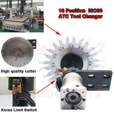 ISO30 Automatic ATC Tool Changer 16 Position for CNC Milling Painting Welding