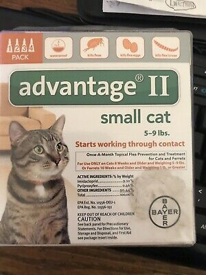 Bayer Advantage II Flea Control for Small Cats 5-9 lbs. - 4 Pack