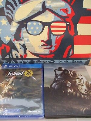 PS4 NEW Sealed FALLOUT 76 W/ Steelbook Case Sony PlayStation Bethesda