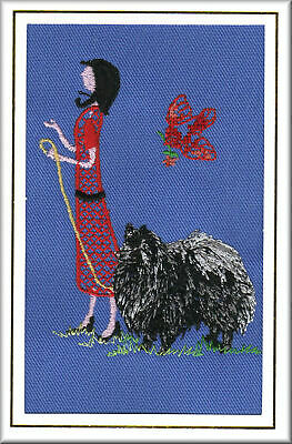 German Spitz  Birthday Card or Notecard Embroidered by Dogmania
