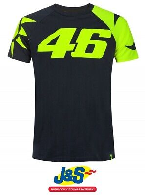 VR46 T-Shirts Sole E Luna Valentino Rossi Tee Mens Motorcycle Blue Sun Moon J&S