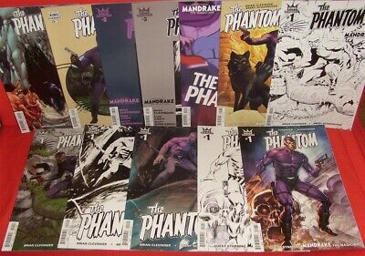 Phantom 1-4 King Dynamite 12 Variant Comic Set A B C D E F Ri B&w Art 2015 Nm