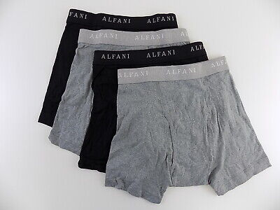 3f601e102267 ALFANI $40 100% COTTON Black SZ S (28-30) MEN 4-PK Boxer Brief ...