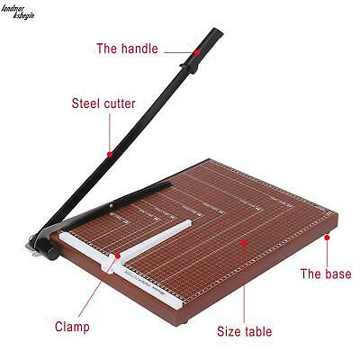 Wooden Professional Office Home Card Paper Cutter Guillotine Stack Paper Trimmer
