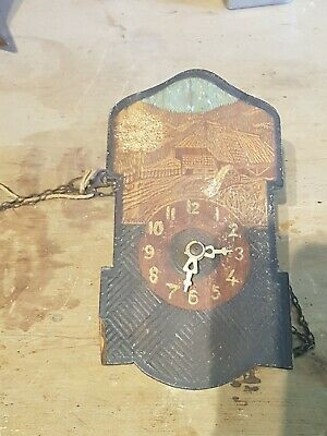 Small Antique Wooden Wall Clock