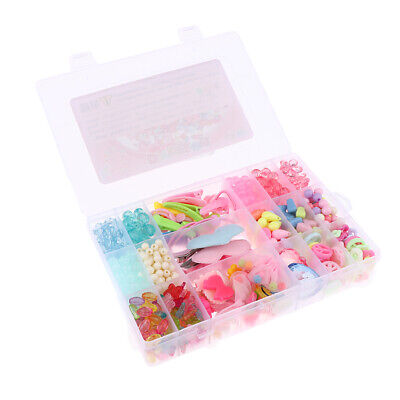 Colorful Acrylic Beads Set Girls Gift for Bracelets Necklaces DIY Making