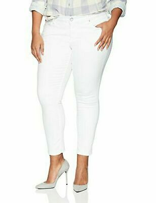 1cf50627ff66c7 SLINK WOMEN'S PLUS Ankle Zip Red Curvy Skinny Jeans White Size:16 ...