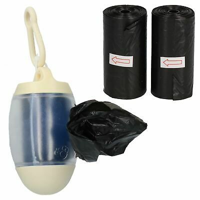 Cream Dog Pet Puppy Poo Poop Waste Bag Dispenser With 90 Bags ( 3 Rolls)