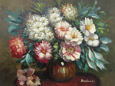 """Turin Flowers Original Hand Painted 8""""x10"""" Oil Painting Floral Art"""