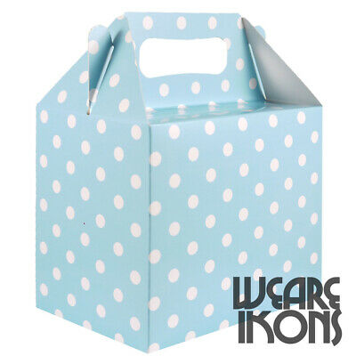 BABY BLUE POLKA DOT Party Food Gift Boxes Favor Birthday Girls