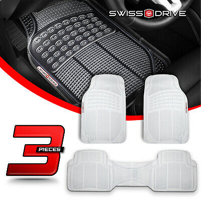 Premium Heavy-Duty 3 Piece Rubber Clear Car Floor Mats All Extreme Weather