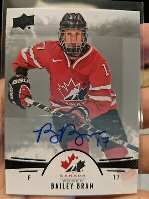 2016 UD Upper Deck Team Canada Women Bailey Bram Autograph Auto Black