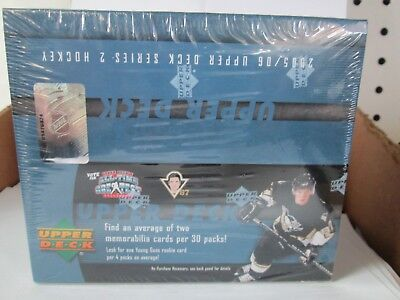 2005-06  Ud Series 2 Hockey Retail Sealed Box