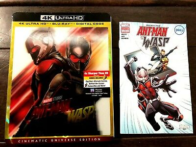 Marvel ANT-MAN and THE WASP 4K ULTRA HD + BLU LENTICULAR SLIPCOVER + Comic No DC
