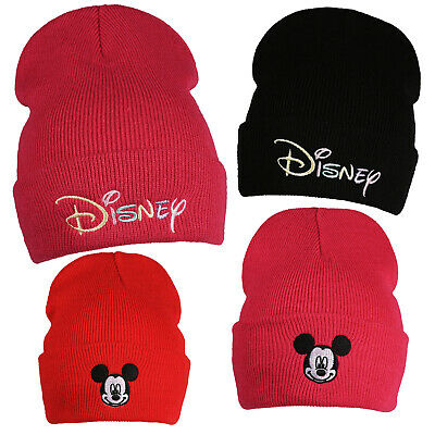 Disney - Logo - Mickey Mouse - Girls - Beanie Hats - Official