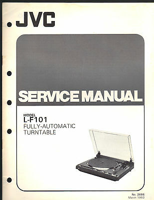 Service Manual JVC L-f101 turntable record player stereo Repair book schematic