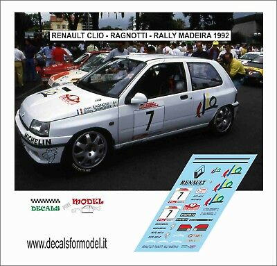 Decals 1/43 Renault Clio Ragnotti Rally Madeira 1992
