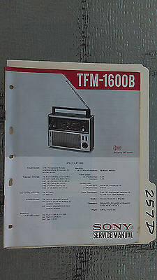 Sony tfm-1600b service manual original repair book multiband transistor radio