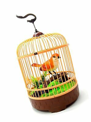 POWERTRC SINGING Chirping Bird In Cage, Realistic Sounds Movements