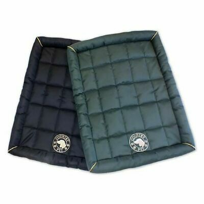 COUNTRY PET WATERPROOF DOG MAT Small 65cm x 50cm Green or Navy Colour Easy Clean