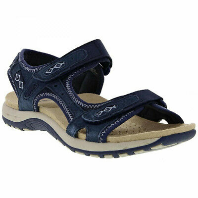 Earth Spirit Frisco Navy Women's Casual Touch Fastening Sandals