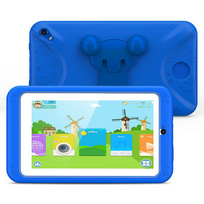"""Kids Android 6.0 Tablet 7"""" 8GB Quad Cort Dual Camera WIFI For Children Education"""