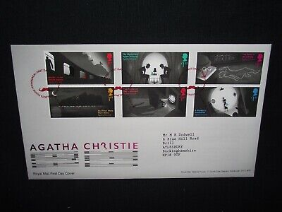 GB first day cover 2016 Agatha Christie with Tallents House cancel.