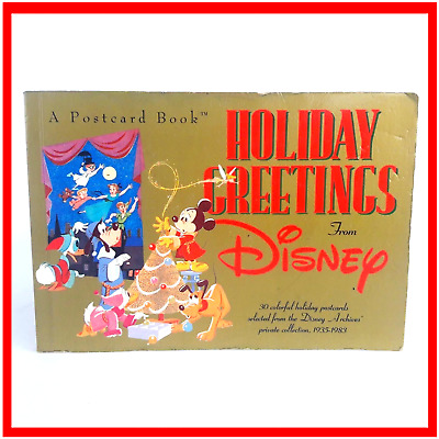 Disney Holiday Greetings Christmas Postcard Book 1935-1983 Collectable